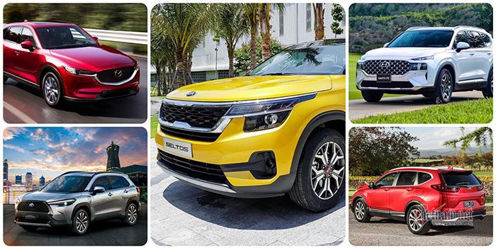 Top 5 xe đa dụng tháng 8/2021: Seltos 'ngược dòng', SantaFe tụt hạng
