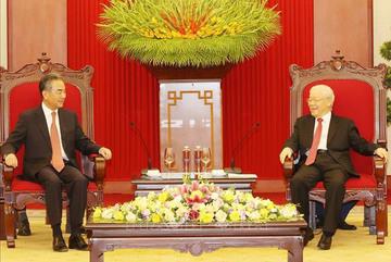 Tổng Bí thư tiếp Ủy viên Quốc vụ, Bộ trưởng Ngoại giao Trung Quốc