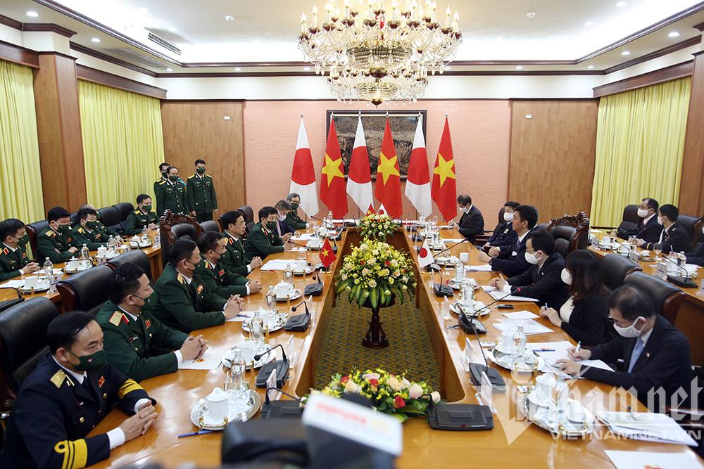 Đại tướng Phan Văn Giang chủ trì lễ đón Bộ trưởng Quốc phòng Nhật Bản