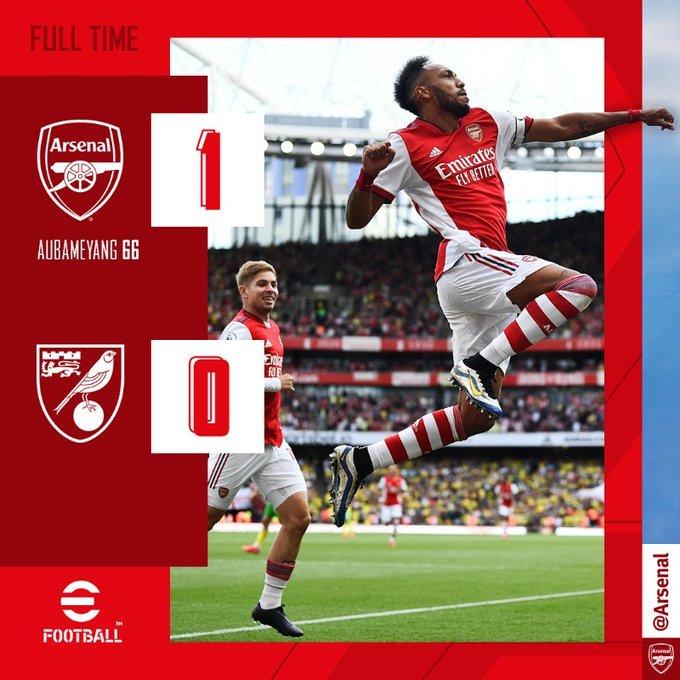 Aubameyang lập đại công, Arsenal thắng trận đầu tiên mùa này