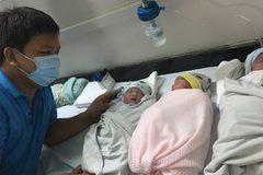 Bệnh viện  đang phong tỏa ở Thanh Hóa mổ đẻ cho sản phụ sinh 3 hiếm gặp