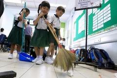 Thói quen dọn dẹp của học sinh Nhật Bản
