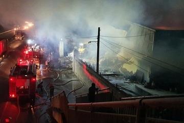 Cháy kho giấy rộng gần 1.000 m2 tại Hải Phòng
