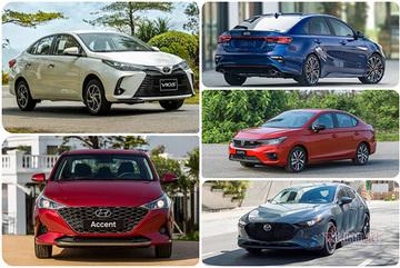 Sedan giá rẻ tháng 8/2021: Vios vẫn giữ ngôi đầu, Mazda 3 lọt top 5