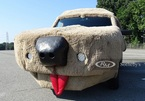 Xe van Ford Econoline hình chó nhồi bông cực dị