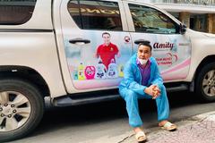 Điều đặc biệt của tên gọi Amity trên chiếc xe đưa Quyền Linh đi làm từ thiện