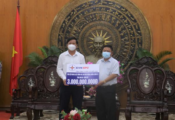 EVNSPC ủng hộ các tỉnh phía Nam 33 tỷ đồng chống dịch