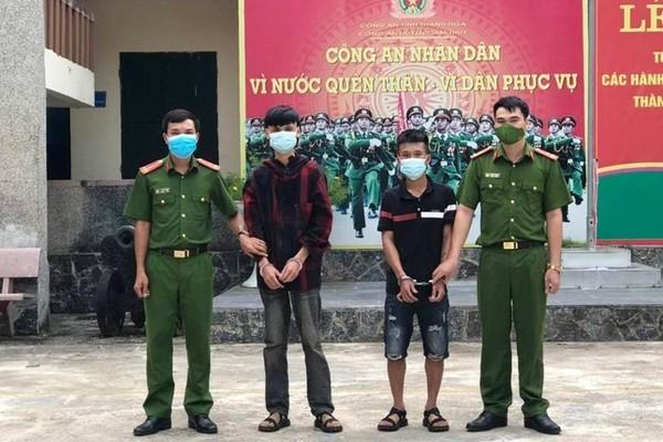 Hai thanh niên ở Thanh Hóa dùng kiếm cướp hàng của shipper