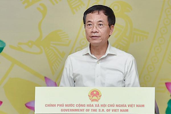 """Bộ trưởng Nguyễn Mạnh Hùng phát biểu khai mạc Chương trình """"Sóng và máy tính cho em"""""""