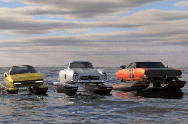 Khi những chiếc ô tô cổ điển cải biến thành thuyền