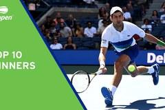 Djokovic lọt top 10 pha ghi điểm winners ngoạn mục nhất US Open 2021