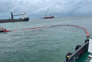 Tàu chở gần 10.000 tấn clinker bị tàu hàng đâm chìm ở Vũng Tàu