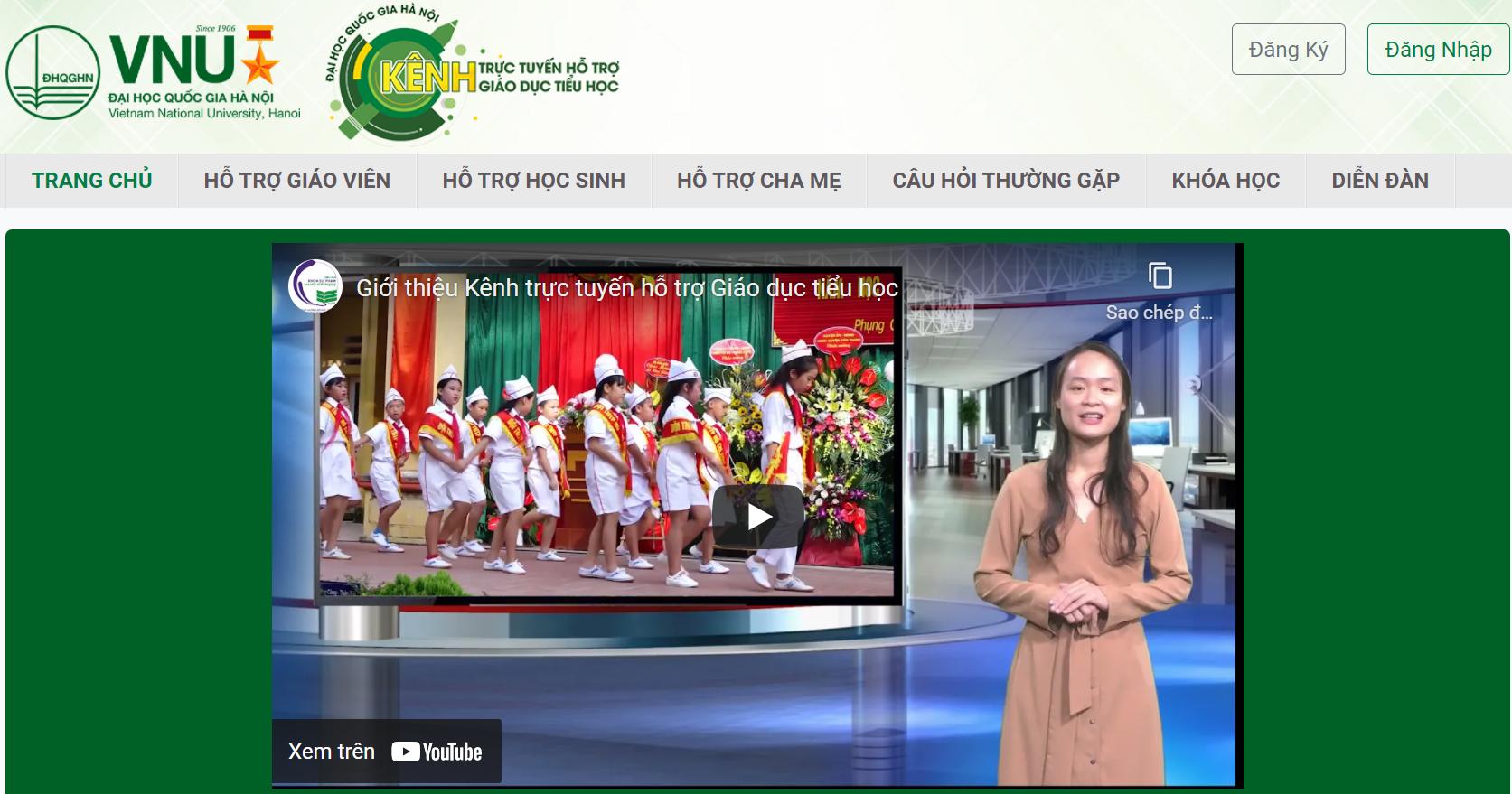 ĐH Quốc gia Hà Nội công bố Kênh trực tuyến hỗ trợ giáo dục tiểu học