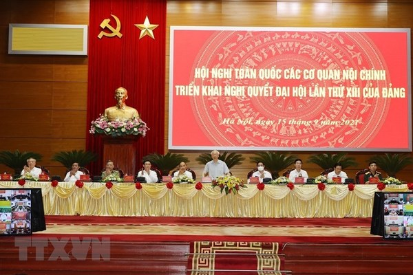 Toàn văn phát biểu của Tổng Bí thư tại Hội nghị toàn quốc các cơ quan nội chính