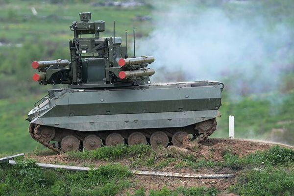 Video Nga trình làng các loại robot chiến đấu tại tập trận Zapad-2021