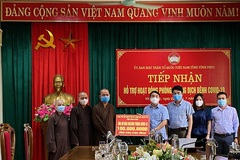 Vĩnh Phúc: Thăm, tặng quà chức sắc, chức việc Phật giáo nhân dịp lễ Vu lan 2021