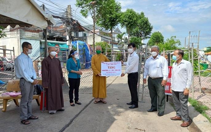 GHPGVN tỉnh Long An tích cực tham gia các hoạt đột từ thiện xã hội