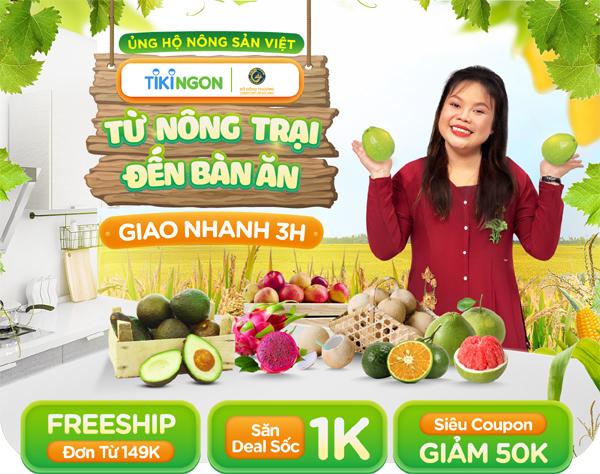 Mua trái cây miền Tây trên Tiki: miễn phí vận chuyển, giao hàng trong 3 giờ