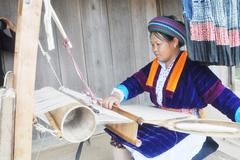 Linen Weaving by the Mong ethnics in Dong Van