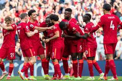 Salah và Mane bùng nổ, Liverpool đại thắng