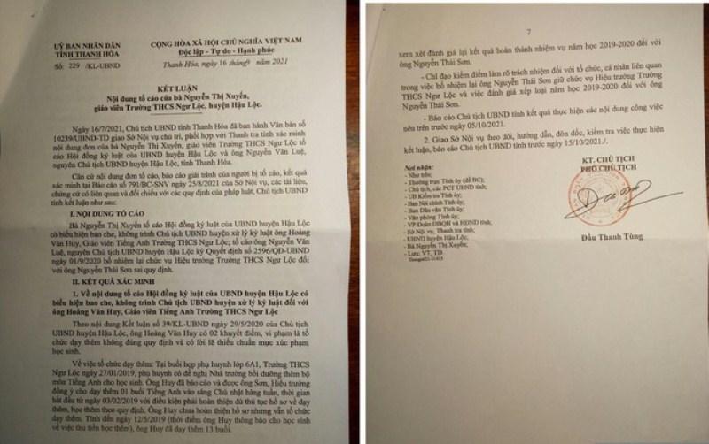 Yêu cầu thu hồi quyết định bổ nhiệm 1 hiệu trưởng ở Thanh Hóa