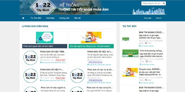1022 Tây Ninh - kênh thông tin hữu ích giữa dịch Covid-19