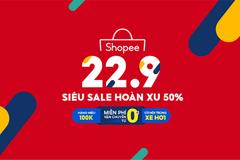 'Bão' siêu sale hoàn xu đến 50% trên Shopee