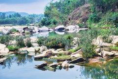 Primeval rock pool in Quang Nam