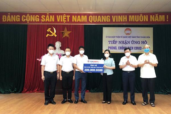 EVNGENCO1 ủng hộ Thanh Hóa 300 triệu đồng chống dịch Covid-19