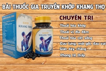 Cẩn trọng với thông tin quảng cáo TPBVSK Khớp Khang Thọ trên một số website