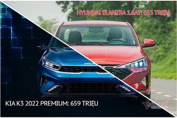 Hơn 650 triệu, chọn Kia K3 Premium hay Hyundai Elantra 1.6AT?