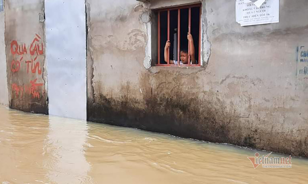 Hình ảnh cứu trợ người dân giữa 'rốn ngập' ở Nghệ An
