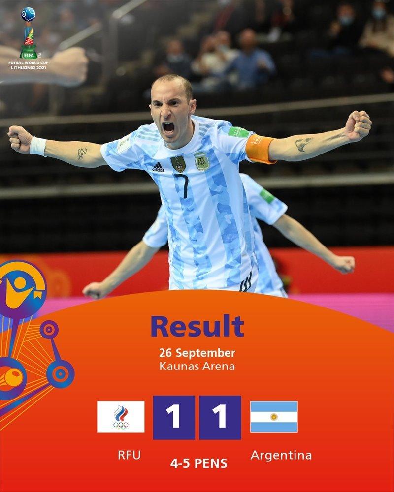 World Cup Futsal,Nga,Argentina,kết quả bóng đá
