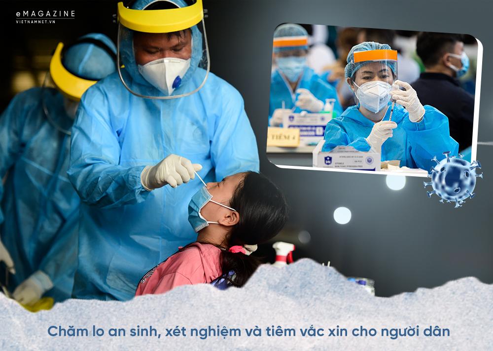 Covid-19 TP.HCM,giãn cách xã hội,tiêm vắc xin,vắc xin Covid-19,xét nghiệm Covid-19,Chỉ thị 16,Phạm Minh Chính