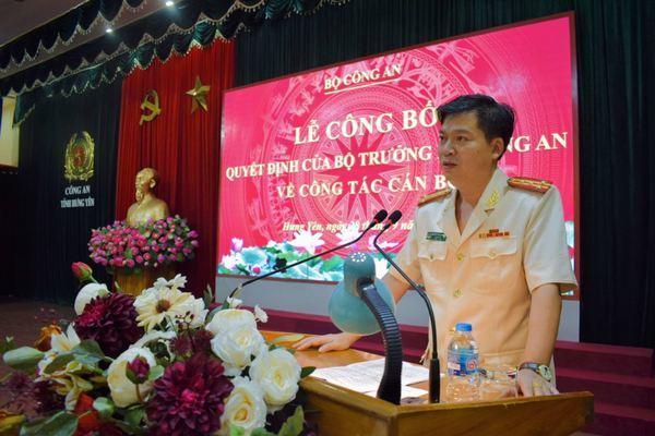 Đại tá Nguyễn Thanh Trường làm Giám đốc Công an tỉnh Hưng Yên