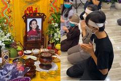 Hồ Văn Cường cùng các em đeo khăn tang cầu siêu cho Phi Nhung