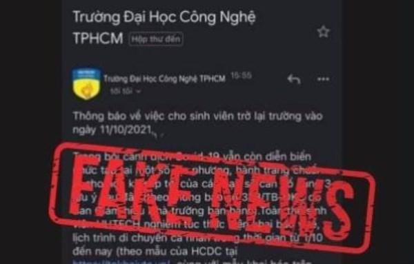 Thông tin cho sinh viên trở lại trường ở TP.HCM là giả