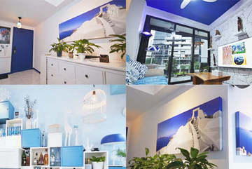 Đưa thiên đường Santorini vào căn hộ 3 phòng ngủ, đi nghỉ dưỡng quanh năm