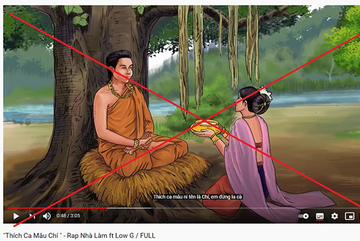 Kênh YouTube Việt đăng clip xúc phạm Phật giáo khiến dân mạng bức xúc