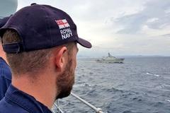 Chiến hạm Việt Nam diễn tập cùng tàu Hải quân Anh