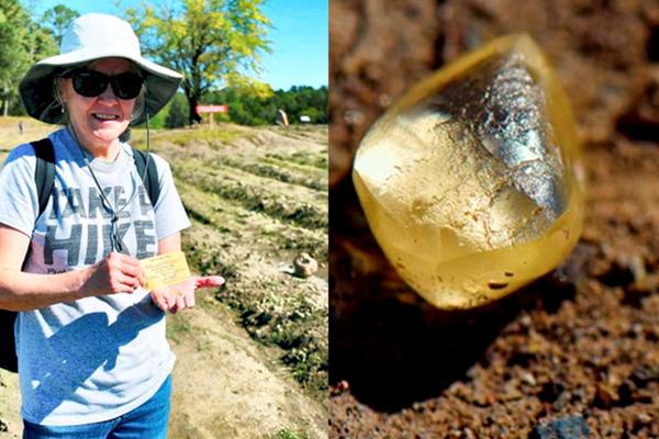Đi chơi công viên, du khách bắt được viên kim cương quý hiếm khổng lồ