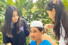 MC Quyền Linh cực hài khi được 2 con gái 'tút tát nhan sắc'