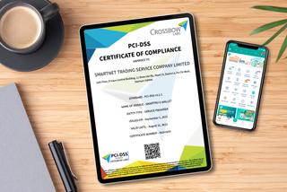 Ví điện tử SmartPay đạt chứng nhận bảo mật quốc tế PCI DSS cấp độ 1