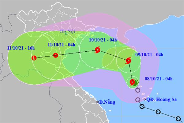Bão số 7 liên tục đổi hướng, Bắc Bộ và Bắc Trung Bộ mưa to