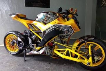 Honda Vario 125 hóa thân thành siêu robot Bumblebee