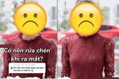 Nữ TikToker bị la ó vì 'đến nhà bạn trai nhất định không rửa bát'