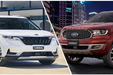Với 1,4 tỷ đồng, chọn KIA Carnival hay Ford Everest?