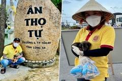 Chú cún thoát chết trong vụ tiêu hủy chó ở Cà Mau được nuôi ở chùa
