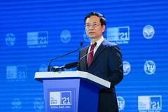 Bộ trưởng Nguyễn Mạnh Hùng phát biểu tại Lễ khai mạc ITU Digital World 2021
