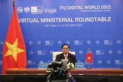 Thủ tướng Phạm Minh Chính phát biểu tại Hội nghị Bộ trưởng Liên minh Viễn thông Quốc tế ITU